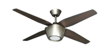 Picture of Fresco 52 in. Brushed Nickel Ceiling Fan with LED Light