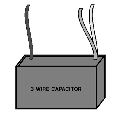 Picture of Single Capacitor - Three Wire