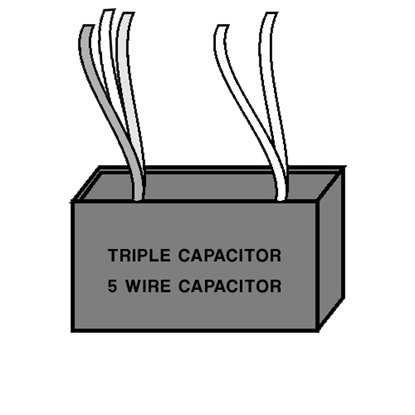 Picture of Triple Capacitor - Five Wire