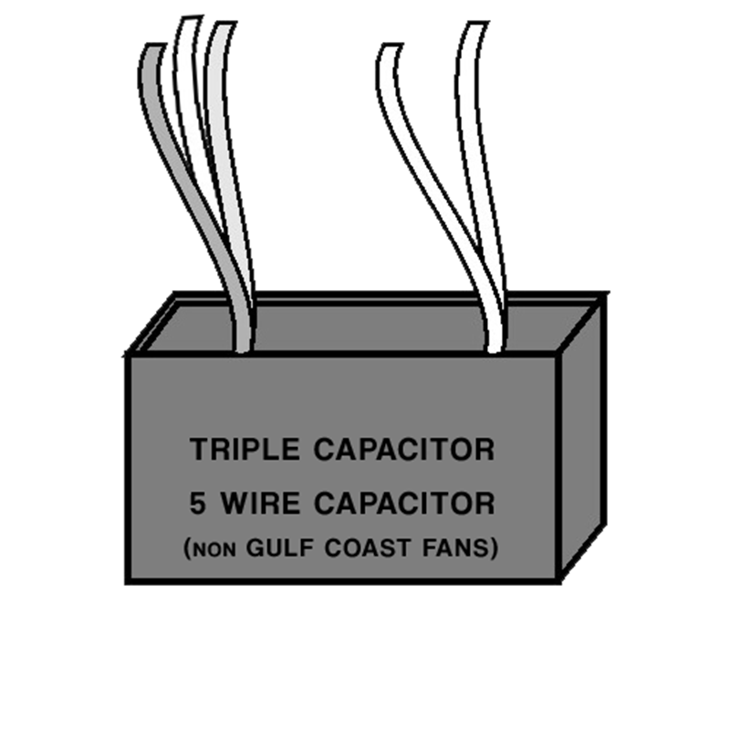 Triple Capacitor - Five Wire - non Gulf Coast Fans