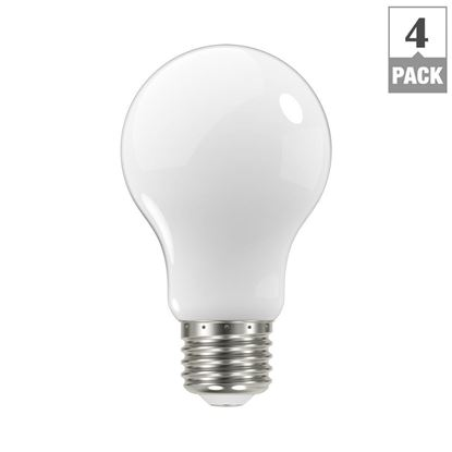 Picture of EcoSmart 60W A19 Dimmable Frosted Filament LED Light Bulb, Soft White (4-Pack)