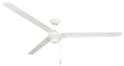 Tornado 72 in Pure White Industrial Ceiling Fan