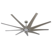 Liberator 82 in. WiFi Enabled Indoor/Outdoor Brushed Nickel Ceiling Fan With 18W LED Array Light