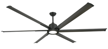 "Picture of Titan II Oil Rubbed Bronze with 84"" Aluminum Oil Rubbed Bronze Blades with 18W LED Array Light and Remote"