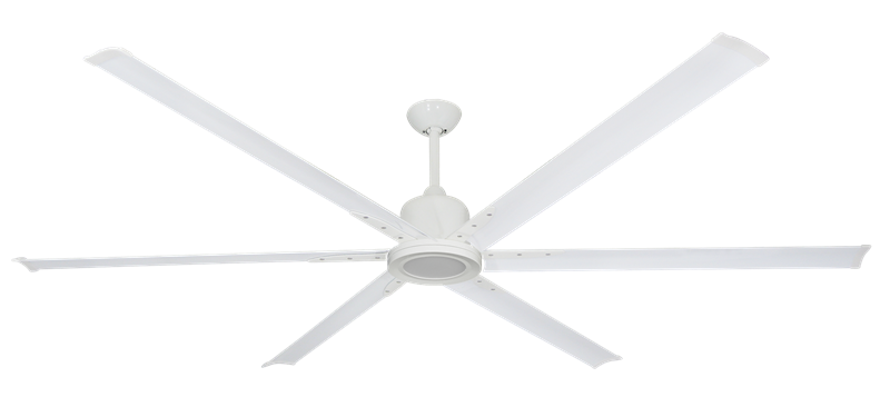 """Picture of Titan II Pure White with 84"""" Aluminum Pure White Blades with 18W LED Array Light and Remote"""