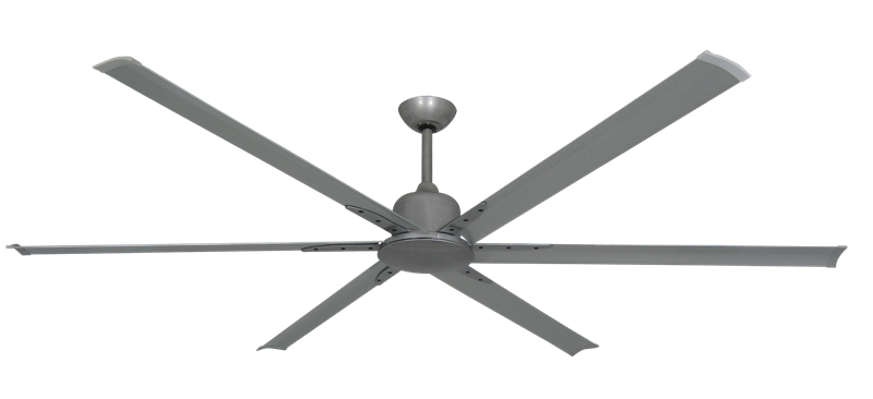 """Picture of Titan II Brushed Nickel with 84"""" Aluminum Brushed Nickel Blades with Remote"""