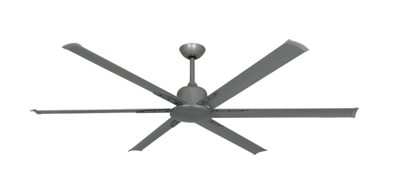 """Titan II Brushed Nickel with 72"""" Aluminum Brushed Nickel Blades with Remote"""