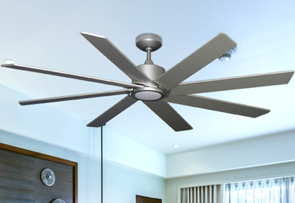 Northstar 60 in. Brushed Nickel-1 Ceiling Fan with LED Light (bn-1)