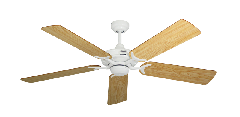 """Picture of Coastal Air Pure White with 52"""" Maple Blades"""