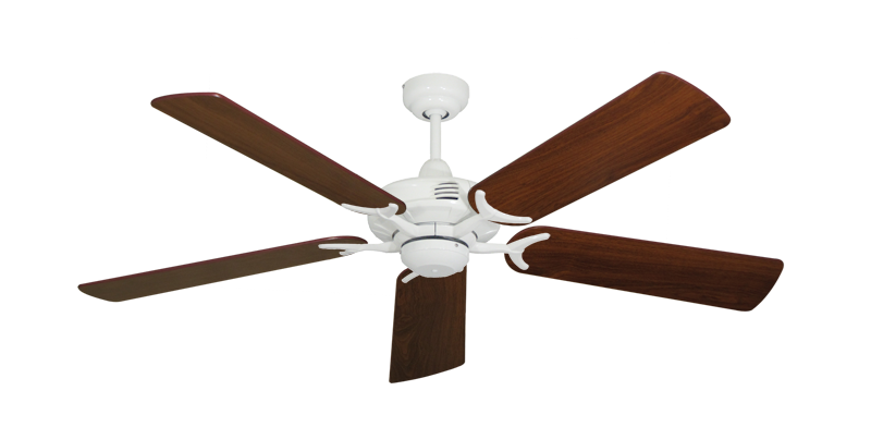 "Picture of Coastal Air Pure White with 52"" Walnut Blades"