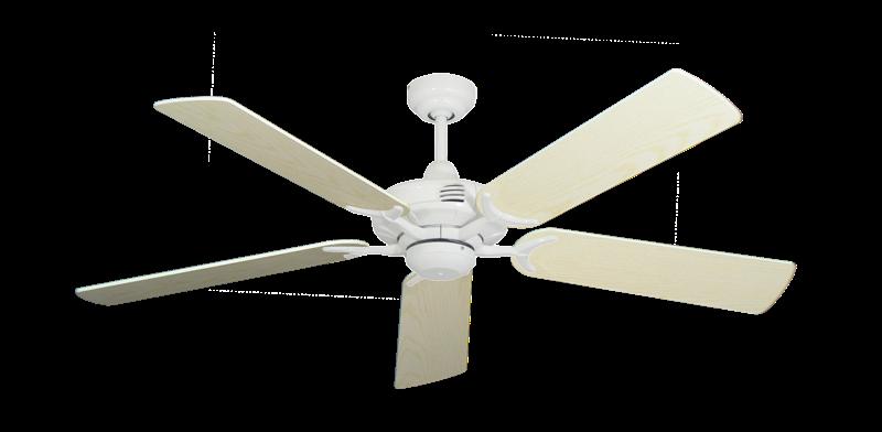 "Coastal Air Pure White with 52"" Pine Blades"
