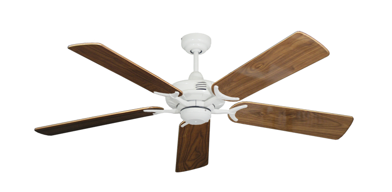 "Picture of Coastal Air Pure White with 52"" Walnut Gloss Blades"