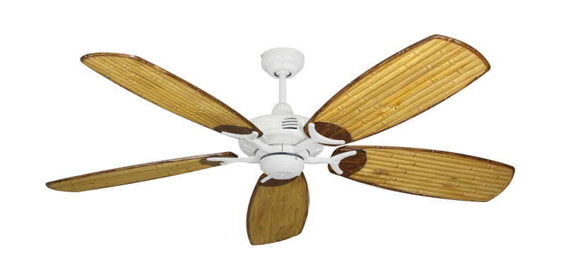 "Picture of Coastal Air Pure White with 52"" Series 275 Arbor Bamboo Blades"