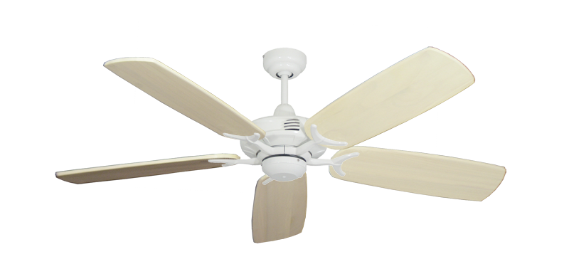 "Picture of Coastal Air Pure White with 52"" Series 425 Arbor Whitewash Blades"