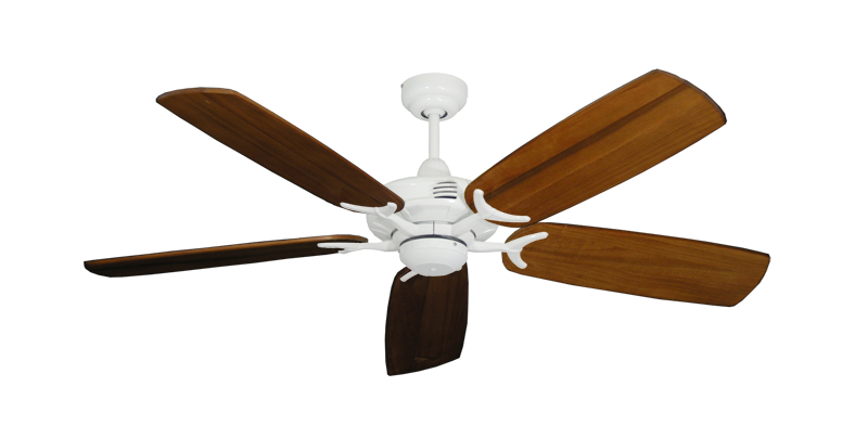 """Picture of Coastal Air Pure White with 52"""" Series 425 Arbor Oak Blades"""