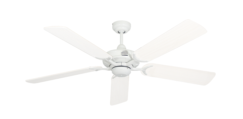 """Picture of Coastal Air Pure White with 52"""" Outdoor Pure White Blades"""
