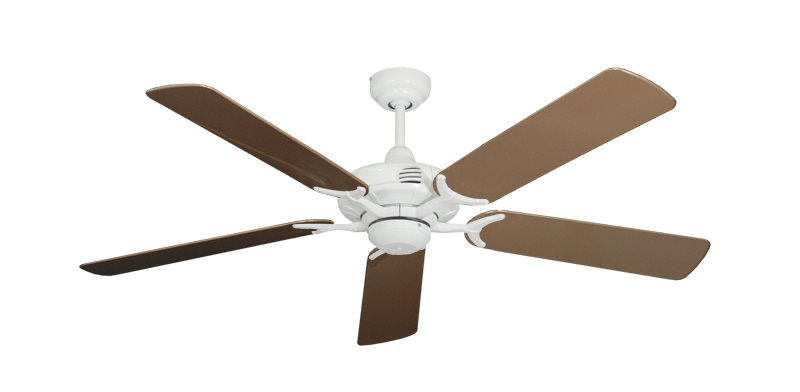 "Picture of Coastal Air Pure White with 52"" Outdoor Brown Blades"