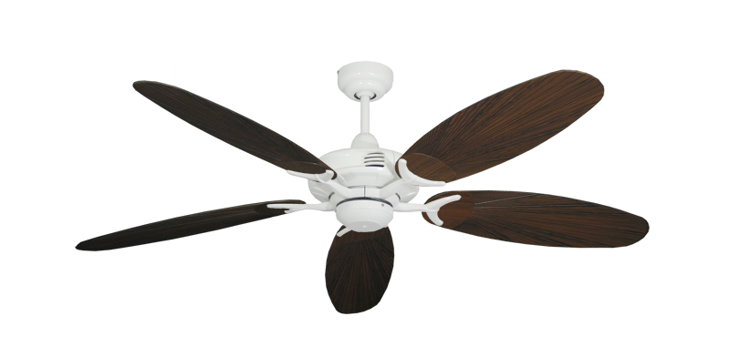 """Picture of Coastal Air Pure White with 52"""" Outdoor Leaf Oil Rubbed Bronze Blades"""