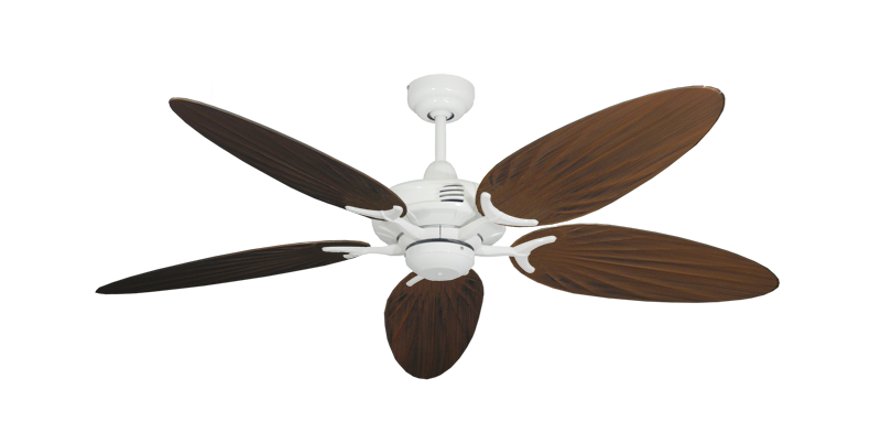 "Picture of Coastal Air Pure White with 52"" Outdoor Palm Oil Rubbed Bronze Blades"