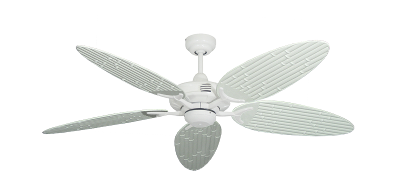 "Picture of Coastal Air Pure White with 52"" Outdoor Bamboo Pure White Blades"