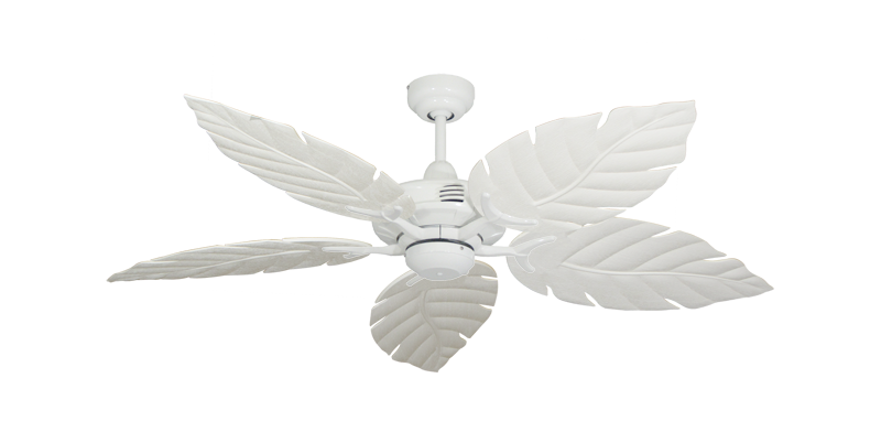 "Picture of Coastal Air Pure White with 52"" Venetian Pure White Blades"