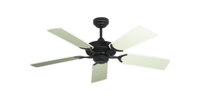 """Coastal Air Oil Rubbed Bronze with 44"""" Antique White Blades"""