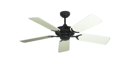 """Coastal Air Oil Rubbed Bronze with 44"""" Antique White Gloss Blades"""