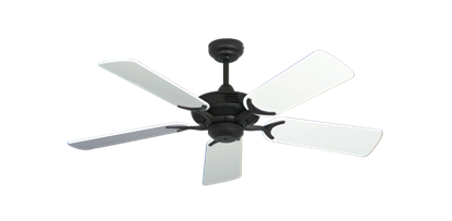 """Coastal Air Oil Rubbed Bronze with 44"""" Pure White Gloss Blades"""