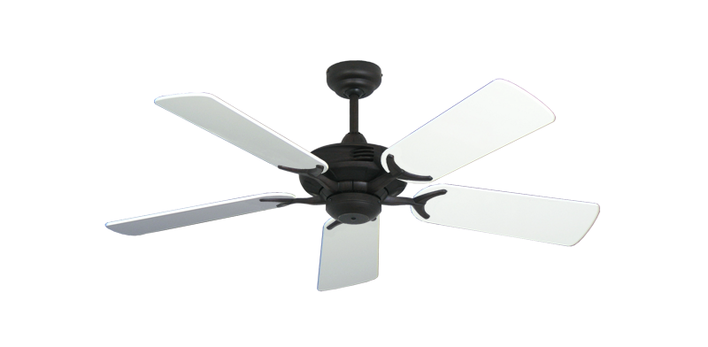 """Picture of Coastal Air Oil Rubbed Bronze with 44"""" Pure White Gloss Blades"""