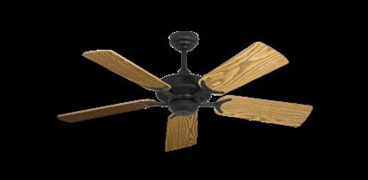 "Coastal Air Oil Rubbed Bronze with 44"" Oak Gloss Blades"