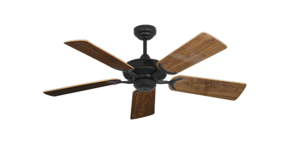 """Coastal Air Oil Rubbed Bronze with 44"""" Walnut Gloss Blades"""