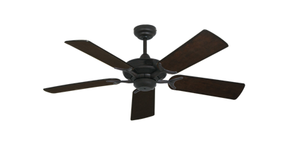 """Picture of Coastal Air Oil Rubbed Bronze with 44"""" Distressed Walnut Blades"""