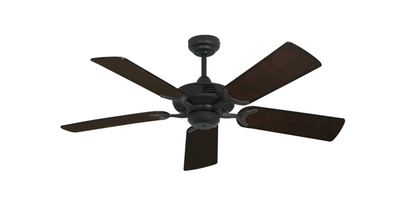 "Picture of Coastal Air Oil Rubbed Bronze with 44"" Distressed Walnut Blades"