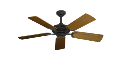 """Coastal Air Oil Rubbed Bronze with 44"""" Light Oak Blades"""