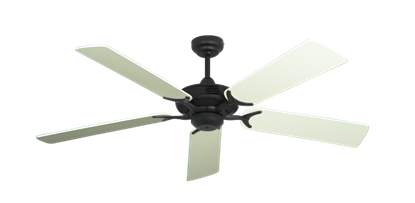 """Coastal Air Oil Rubbed Bronze with 52"""" Antique White Blades"""