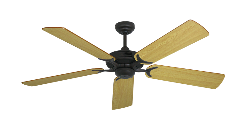 """Picture of Coastal Air Oil Rubbed Bronze with 52"""" Honey Oak Blades"""