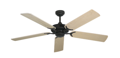"""Picture of Coastal Air Oil Rubbed Bronze with 52"""" Bleached Oak Blades"""