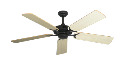 """Picture of Coastal Air Oil Rubbed Bronze with 52"""" Bleached Oak Gloss Blades"""