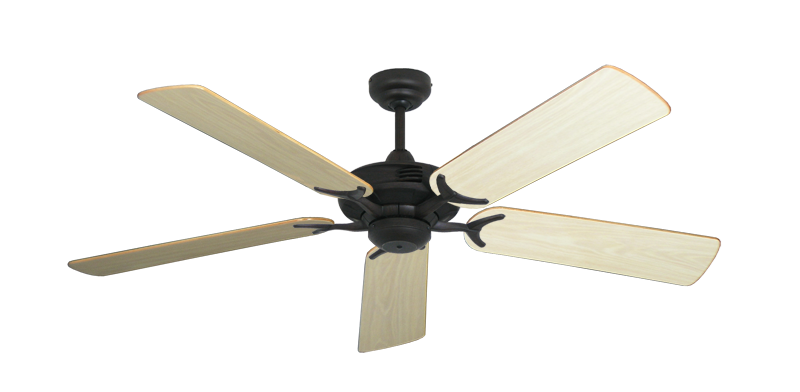 "Picture of Coastal Air Oil Rubbed Bronze with 52"" Bleached Oak Gloss Blades"
