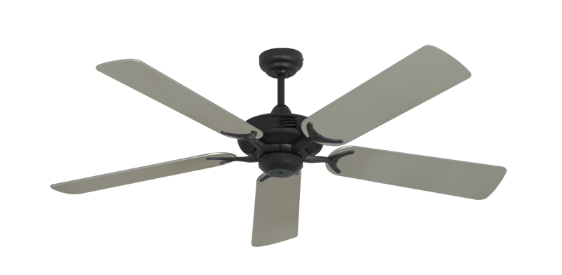 "Picture of Coastal Air Oil Rubbed Bronze with 52"" Satin Steel (painted) Blades"