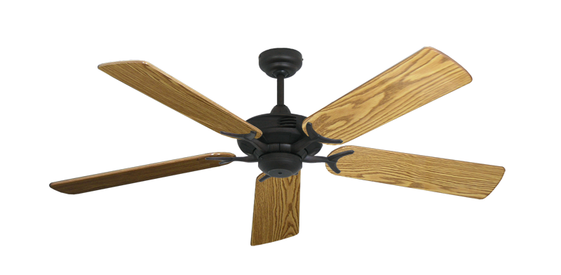"Picture of Coastal Air Oil Rubbed Bronze with 52"" Oak Gloss Blades"
