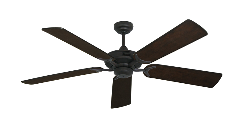 """Coastal Air Oil Rubbed Bronze with 52"""" Distressed Walnut Blades"""