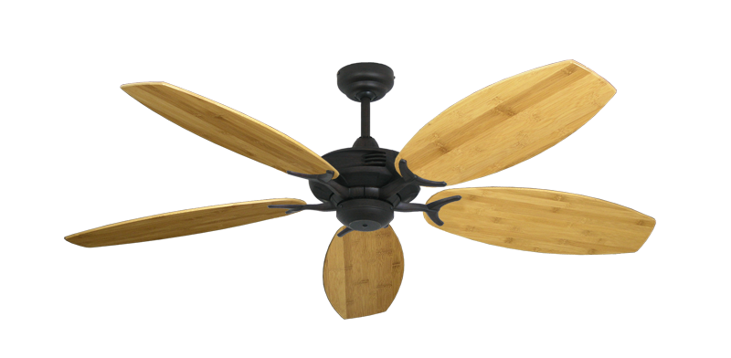 "Picture of Coastal Air Oil Rubbed Bronze with 52"" Oar Bamboo Brown Blades"