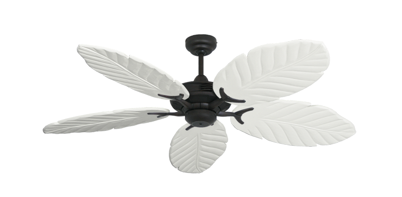"Picture of Coastal Air Oil Rubbed Bronze with 52"" Series 125 Arbor Pure White Blades"