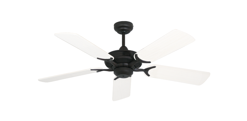 """Picture of Coastal Air Oil Rubbed Bronze with 44"""" Outdoor Pure White Blades"""