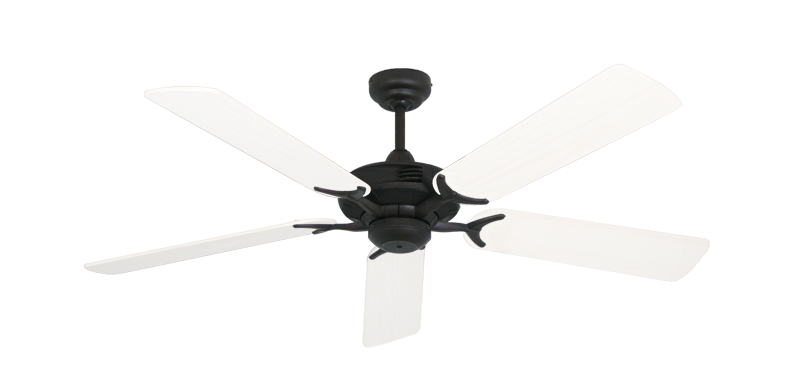 """Picture of Coastal Air Oil Rubbed Bronze with 52"""" Outdoor Pure White Blades"""