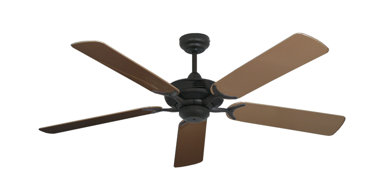 """Picture of Coastal Air Oil Rubbed Bronze with 52"""" Outdoor Brown Blades"""