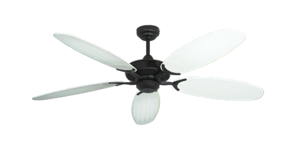 "Picture of Coastal Air Oil Rubbed Bronze with 52"" Outdoor Wicker Pure White Blades"