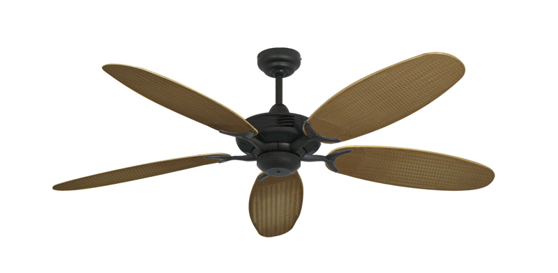 "Picture of Coastal Air Oil Rubbed Bronze with 52"" Outdoor Wicker Tan Blades"