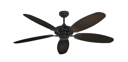 "Picture of Coastal Air Oil Rubbed Bronze with 52"" Outdoor Wicker Oil Rubbed Bronze Blades"